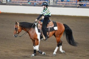 Delainey Enloe and Max at the State Jr. Horse Show