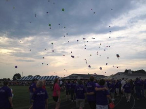 Balloon release at the Clinton County Relay for Life