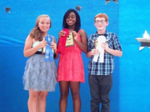 Junior Division winners: Ravyn Gauch, Reauna Stiff, and Gabe Baxter.