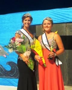 Bond County Fair Queen Kelli Mollett and Junior Miss Shelbi McCray