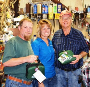 (L to R) Boyd Turley, Carla Lappe of Farm Credit Illinois, and Eldon Turley