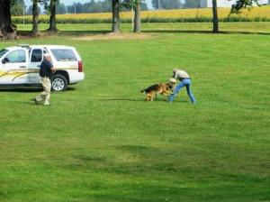 Canine demonstration by the Bond County Sheriff's Department