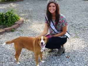 Bond County Fair Queen Kelli Mollett with her four-legged friend