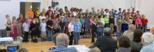 Unit 2 second grade students perform during the Academic Foundation Annual Meting