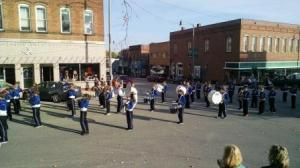 The Greenville Jr. High Marching Blue Jays participated
