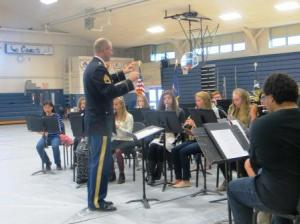 The GHS band and chorus performed patriotic tunes.