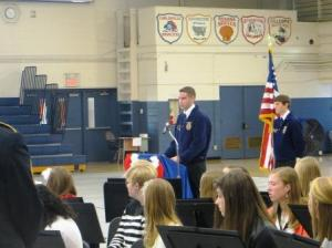 Greenville FFA members had interviewed vets of various ages and several shared the stories they had learned.