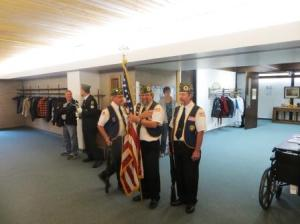 A moment behind the scenes of Tuesday's Veteran's Day Ceremony