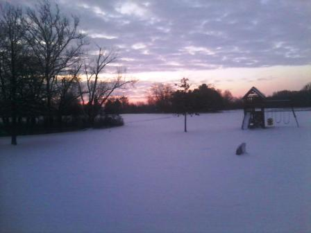 Deb Schlemer shared this photo of the snowy sunrise on Stowe Avenue