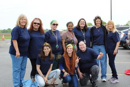 Women's Empowerment Group members and hosts of the event: (Top Row, L to R) Susan Haring, Dawn Lile, Laura Vohlken, Keona Cann, Counselor Veronica Schuster, Sheri Pate, Donna Kimme (Bottom Row, L to R) Kelly Primo, Chelsey Scott, and Jennifer Eader