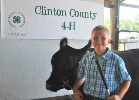 Blake Twenhafel received the Rate-Of-Grain Champion this year. Twenhafel is a member of the Aviston Aces 4-H Club.