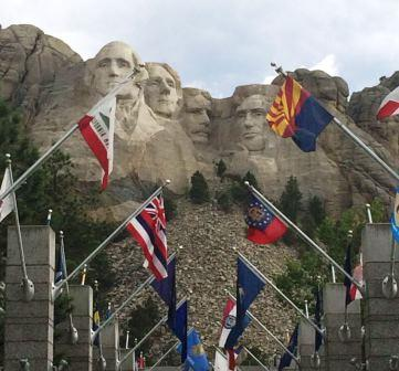 On the way home, the group stopped briefly at Devil's Tower in Wyoming and Mt. Rushmore in South Dakota.