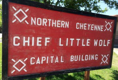 We were working just moments from the Northern Cheyanne Capital building.