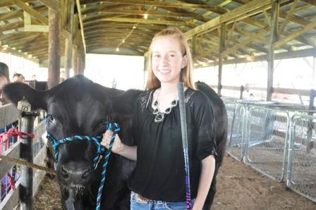 Riley Unterbrink had the Champion Rate of Gain Steer this year.  She is a member of the Hoof-N-Horn club has been in 4-H for five years.